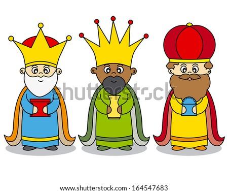 three kings vector  - stock vector