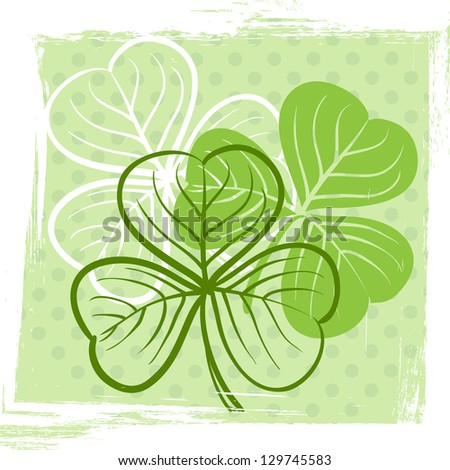 Three leaf clover illustration for St. Patrick's day - stock vector