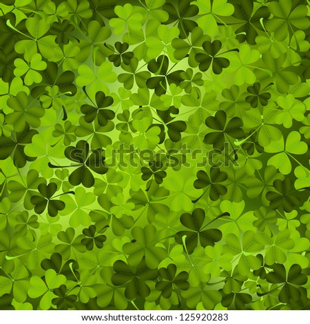 Three leaved shamrock seamless pattern. - stock vector