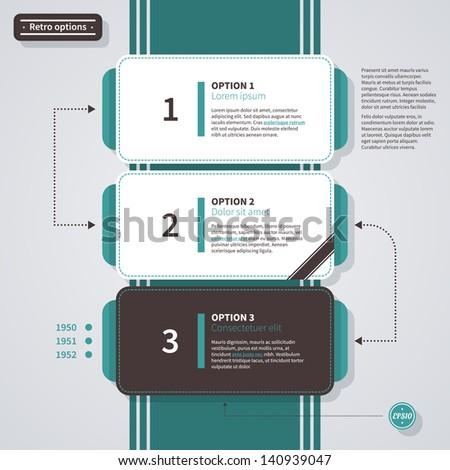 Three options in retro style. EPS10. - stock vector