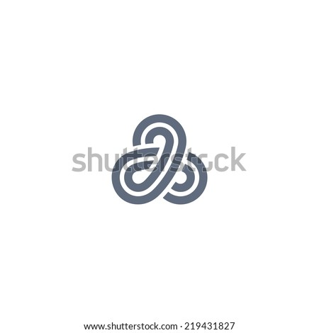 Three sided design element - stock vector