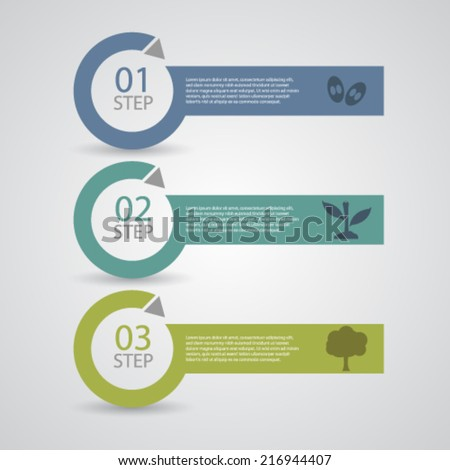 Three Steps of Plant growth, eps10 vector. - stock vector