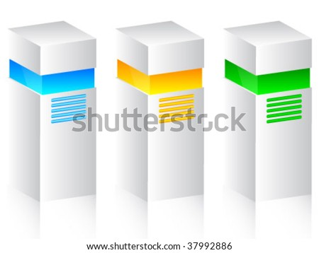three units for pc - stock vector
