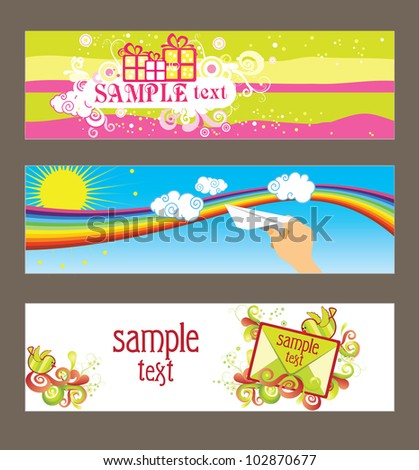 Three vector cards for design - stock vector