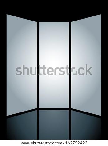 three vertical vector blank screens  - stock vector