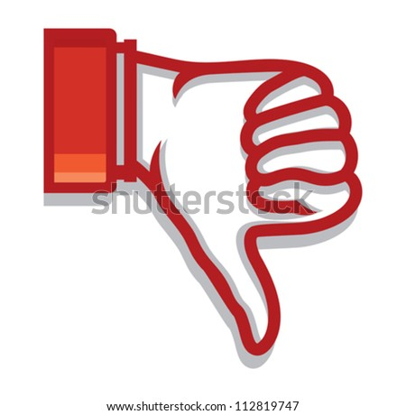 thumb down - stock vector