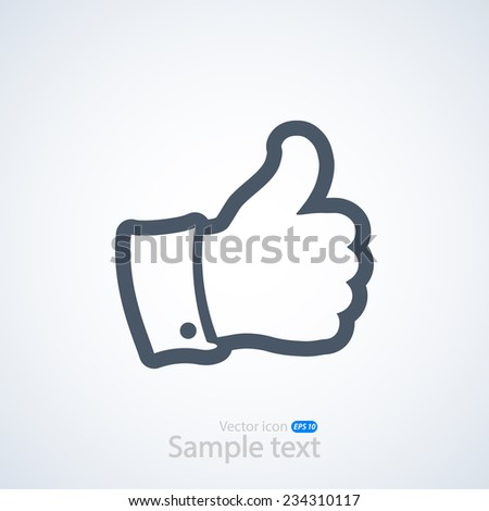 thumb icon , vector illustration. Flat design style   - stock vector