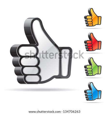 Thumb up - stock vector