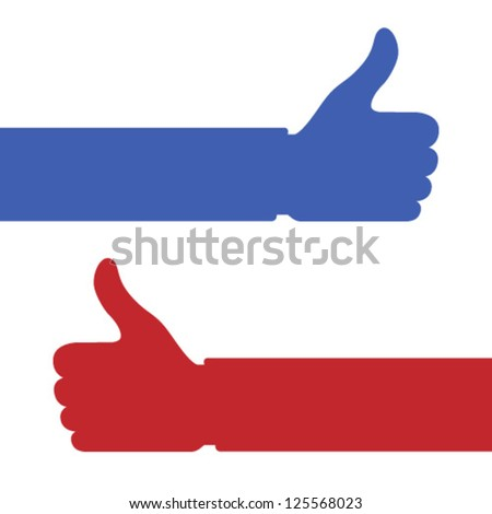 Thumb up hand icons, vector  illustration for design - stock vector