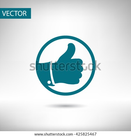 Thumb up icon vector - stock vector