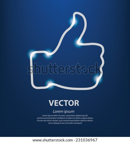 Thumb up vector. Social media concept. - stock vector