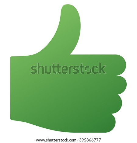 Thumb Up vector toolbar icon. Style is gradient icon symbol on a white background. - stock vector