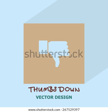 Thumbs down (dislike) icon. Vector design. - stock vector