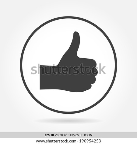 Thumbs up icon in circle - can be used as button & web icon - like & favorite concept - stock vector