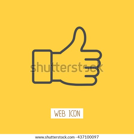 Thumbs up icon. Vector like icon. - stock vector