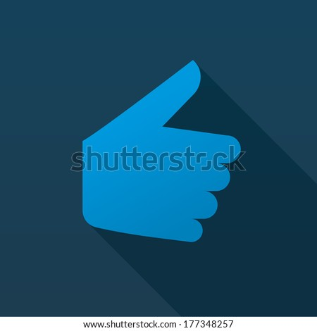 Thumbs Up symbol icon, flat ui design, vector illustration.  - stock vector