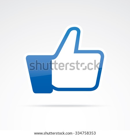 Thumbs up vector icon. - stock vector