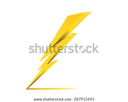 thunder electric charge symbol icon vector - stock vector