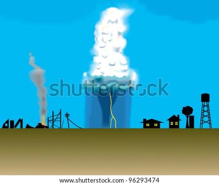 Thunderstorm - stock vector