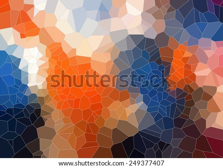 Tial Orange  bright abstract triangle image for web design - stock vector