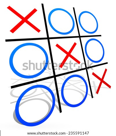 Tic tac toe with match - stock vector