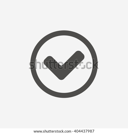 Tick icon sign. Tick icon flat design. Tick icon for app. Tick icon for logo. Tick icon picture. Flat icon on white background. Vector - stock vector