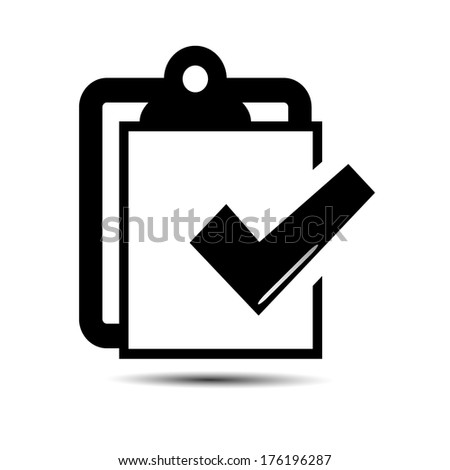 Tick sign. Icon vector - stock vector