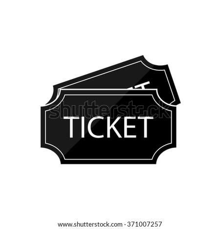 ticket  - black vector icon - stock vector