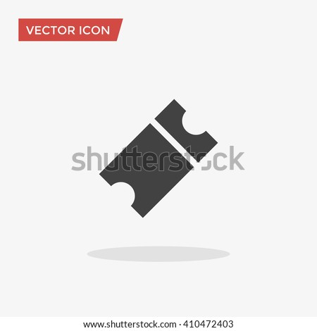 Ticket Icon in trendy flat style isolated on grey background. Raffle symbol for your web site design, logo, app, UI. Vector illustration, EPS10. - stock vector
