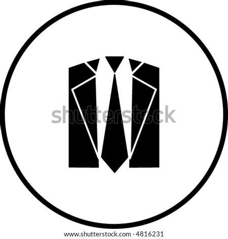 tie and suit symbol - stock vector