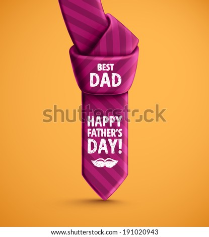 Tie, Father's Day, eps 10 - stock vector