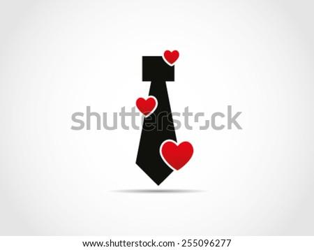 Tie Love Valentine Job Employee - stock vector