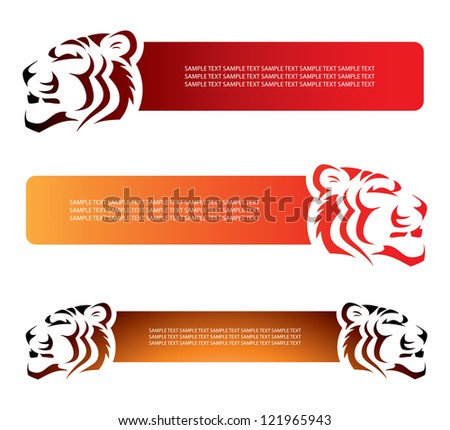 Tiger banners - vector illustration - stock vector