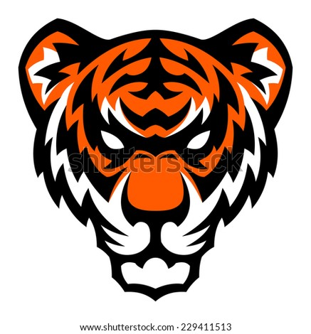 Tiger head mascot. - stock vector