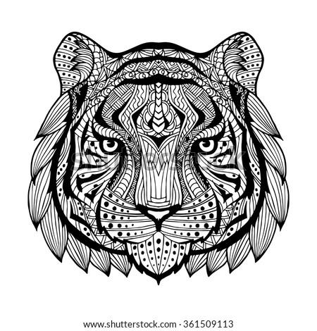White Tiger Stock Vectors Amp Vector Clip Art Shutterstock