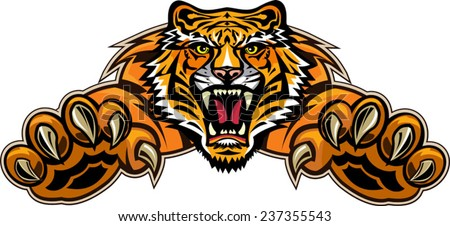 Tiger jump - stock vector