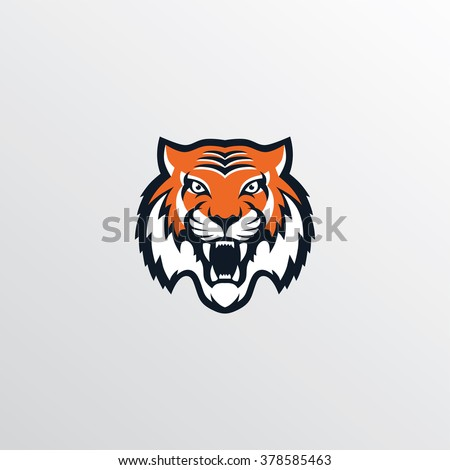 tiger logo - stock vector