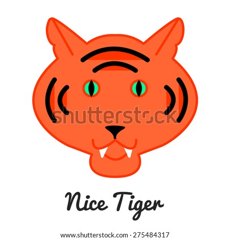 Tiger logo or icon in vector, color illustration - stock vector