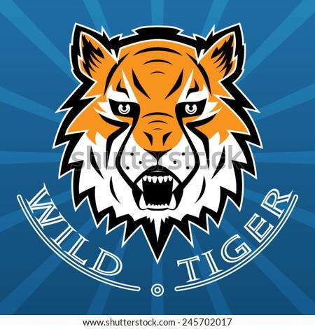 Tiger Logo Team Symbol Sport Mascot Isolated Vector Illustration - stock vector
