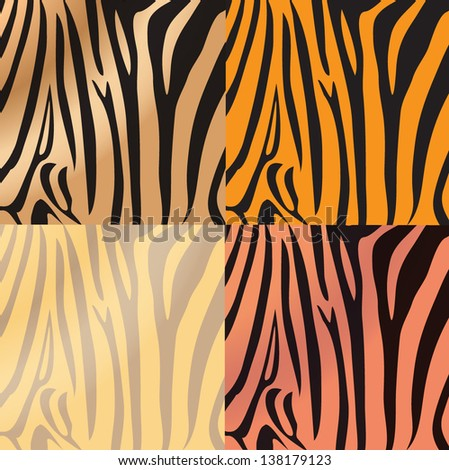 Tiger print,pattern - stock vector