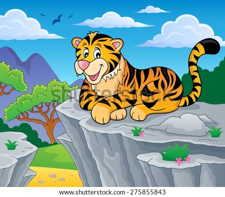 Tiger theme image 2 - eps10 vector illustration. - stock vector