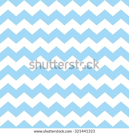 Tile chevron vector pattern with pastel blue and white zig zag background - stock vector