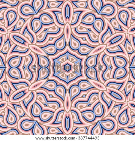 Tile. Pattern from ornamental elements. Can be used for wallpaper, pattern fills, web page background,surface textures. - stock vector