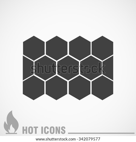 tile vector icons - stock vector