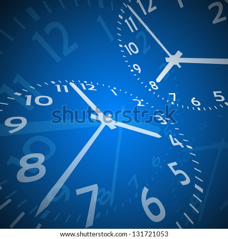 Time abstract theme on gray background - stock vector