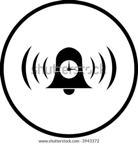 time alarm bell symbol - stock vector