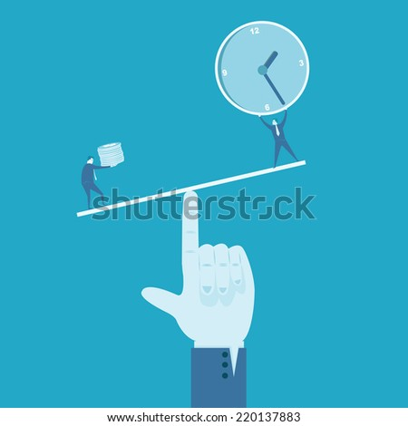 Time and money  - stock vector