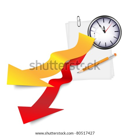 Time bacground - stock vector