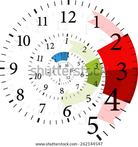 time change  - stock vector