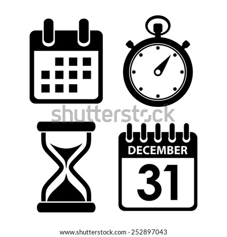 Time clock icon - stock vector